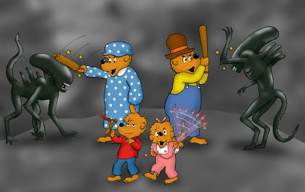 The Berenstein Bears and the Grouchy Xenomorphs.