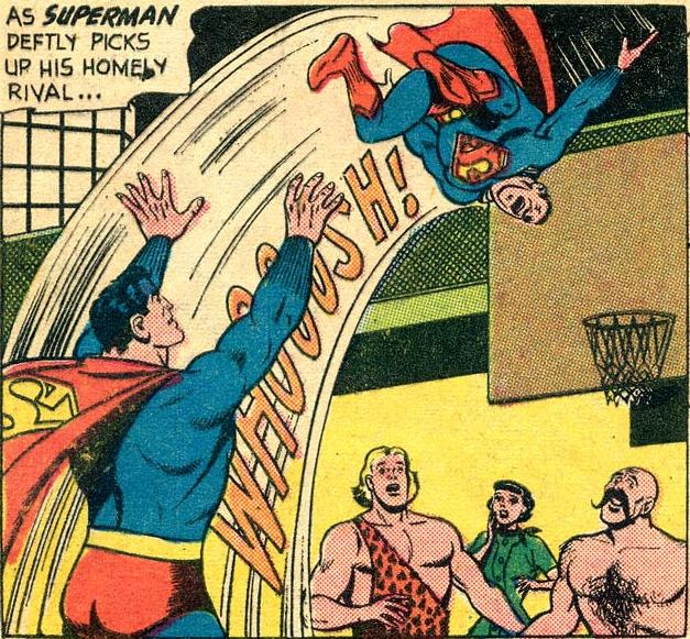Superman Scores a Free Throw.