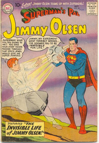 """The Invisible Life of Jimmy Olsen!"""