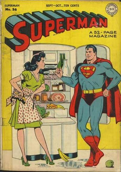 Superman vs. Common Household Fridge.