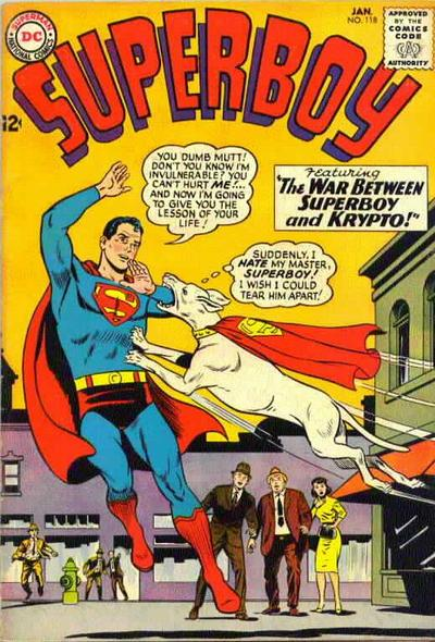 """The War Between Superboy and Krypto!"""