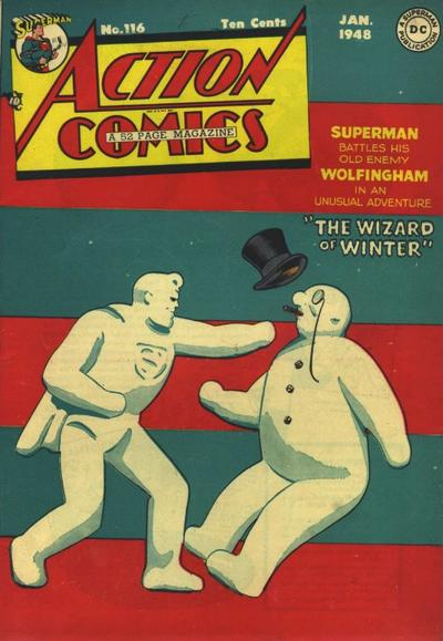 Superman Pummels Frosty the Snowman.