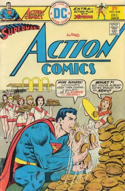 Superman Consumes Every Hamburger on Earth.