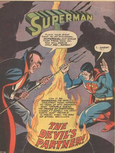 Superman Swears Allegiance to Satan.
