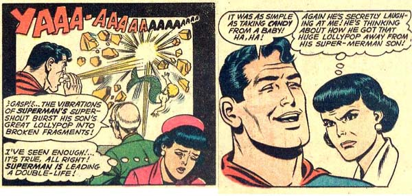 Superman Literally Takes Candy From a Baby.