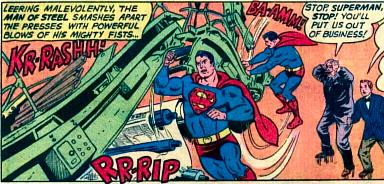 Superman Ruins Perry's Livelihood.