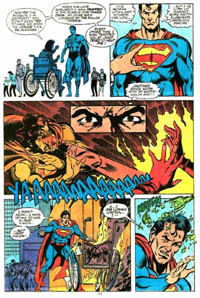 Superman Reduces Lois to Ashes.