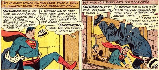 Superman Fakes Clark's Death.