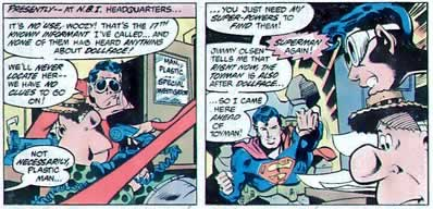 Superman, Breaking Walls For No Apparent Reason.