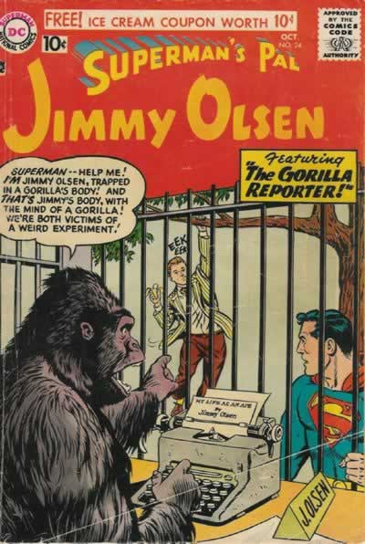 Jimmy as a Gorilla.
