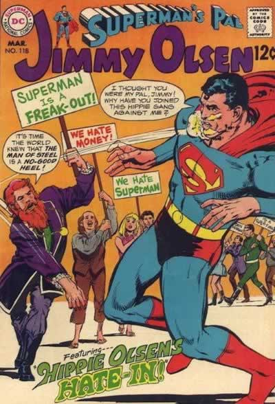 """Jimmy Olsen's Hate-In!"""