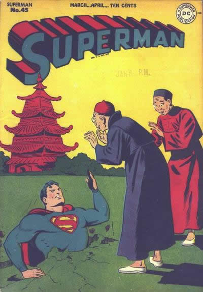 Superman Digs a Hole to China.