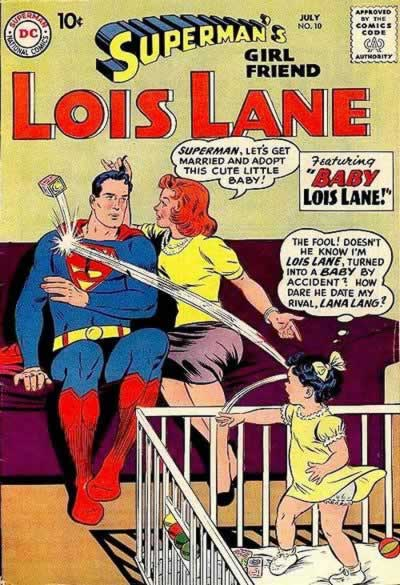 Lois is Turned Into a Baby.  An Angry Baby.