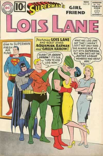 Lois Makes Out With the JLA.