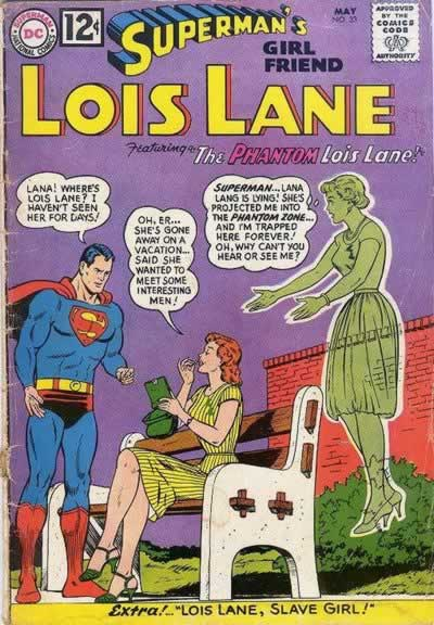 Lana Traps Lois in the Phantom Zone.