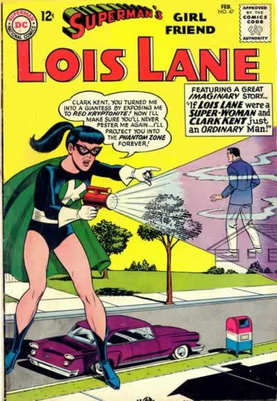 Giant Superheroine Lois Takes Out Clark.