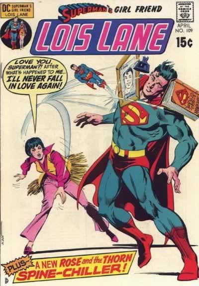 Lois Pelts Superman With Memorabilia.