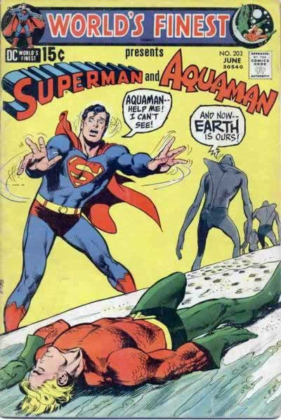 Blind Superman vs. The Sharkmen.