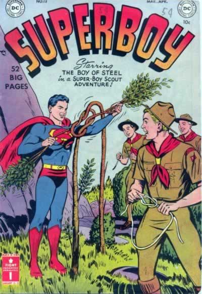 Superboy Earns a Merit Badge, Kills Two Trees.