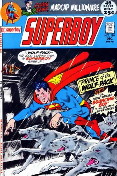 Superboy Joins a Pack of Wolves.