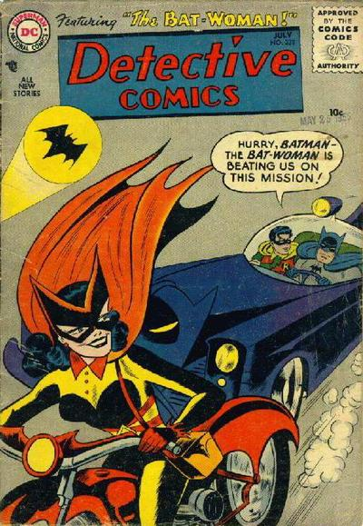 Robin Feels Threatened by Bat-Woman.