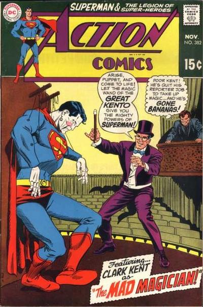 """Clark Kent as The Mad Magician!"""