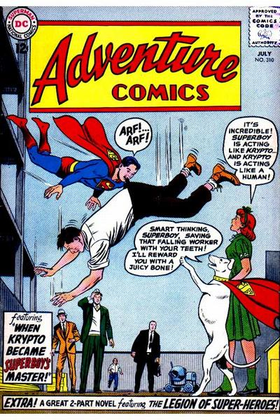"""When Krypto Became Superboy's Master!"""