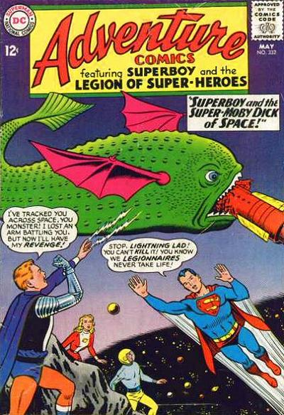 """Superboy and the Super-Moby Dick of Space!"""