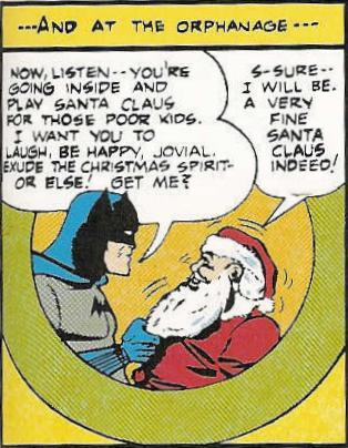 Batman Menaces Santa Some More.