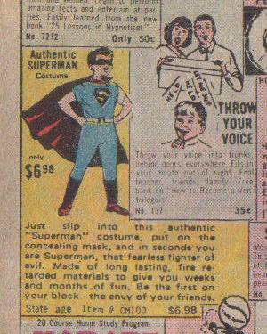 Authentic Superman Costume.
