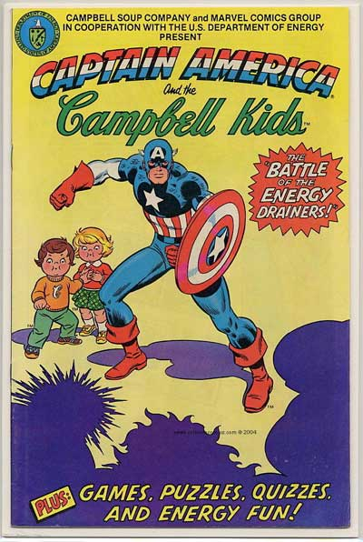 """Captain America and the Campbell Kids!"""
