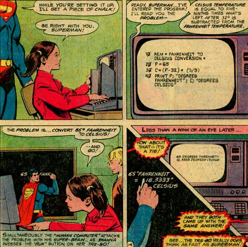 A Computer That Does Simple Math as Quickly as Superman Isn't Exactly a Selling Point With Me.