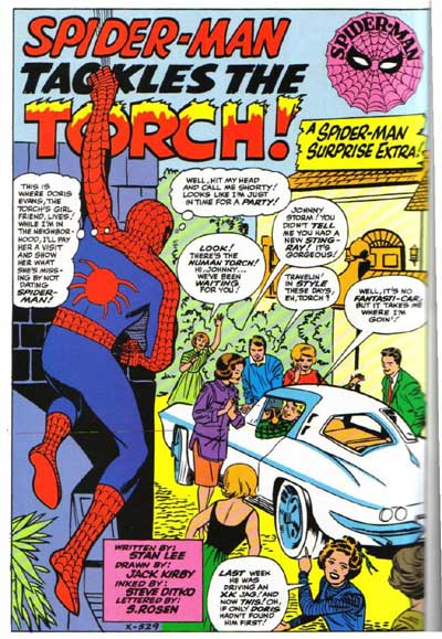 Spider-Man Tries to Steal the Human Torch's Girlfriend and Fails Miserably.