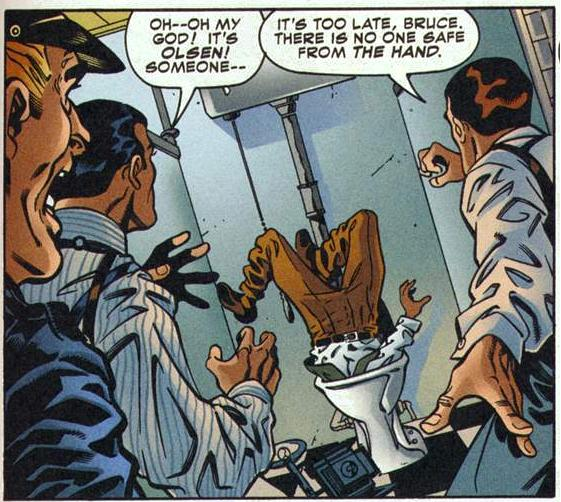 Jimmy Olsen:  Recipient of the World's Worst Swirly.