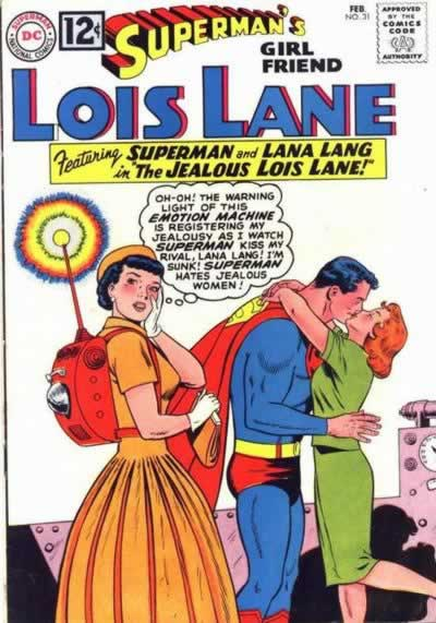 Superman Frenches Lana in Front of Lois.
