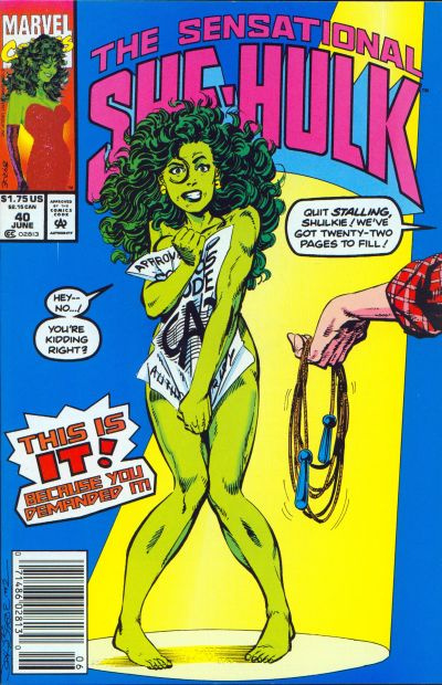 She-Hulk's Circulation Numbers Must Be Slipping.