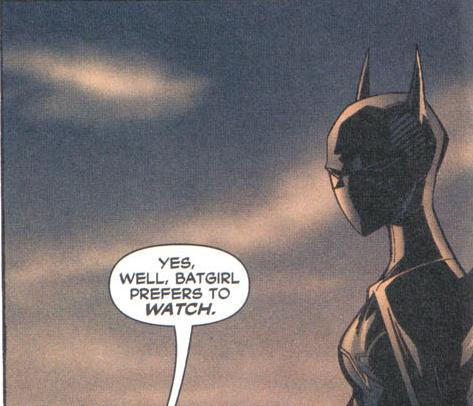 Batgirl Likes to Watch.