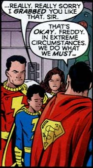 Captain Marvel Jr. Has a Thing For Supes.