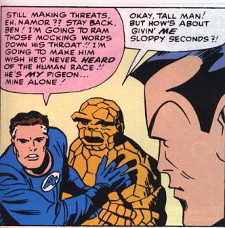 The Thing Loves Sloppy Seconds.