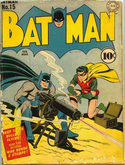 Batman and Robin Man the Machine Gun.