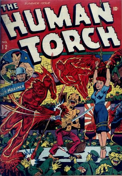 Human Torch Takes Someone's Arm.