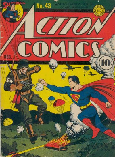 Superman vs. Nazi Paratrooper.
