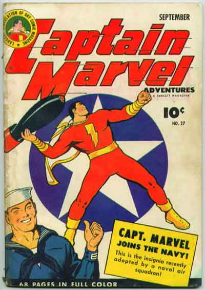 """Captain marvel Joins the Navy!"""