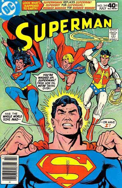 Superman Usurped by Gender-Swapped Replacements.