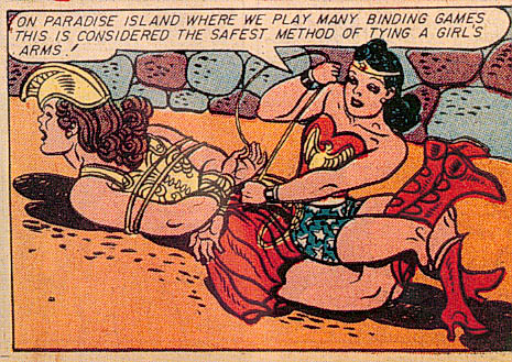 More Wonder Woman Bondage.