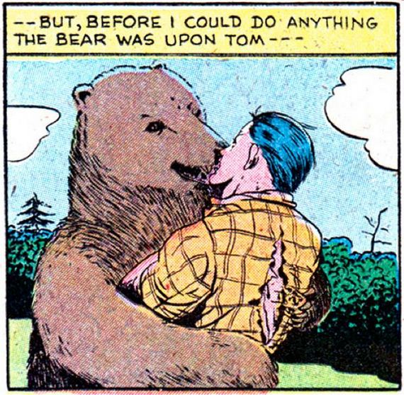 Hot Hot Man-on-Bear Action.