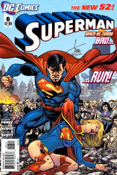 Superman Comic Book White Cover : Superman is a dick superdickery i think his dad s